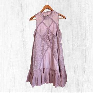 Free People Angel Elderberry Lace Dress Sz M